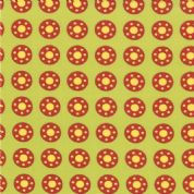 Moda Bobbins and Bits - 2785 - Red & Yellow Bobbin/Polka Dots on Green - 43023-14 100% Cotton Fabric